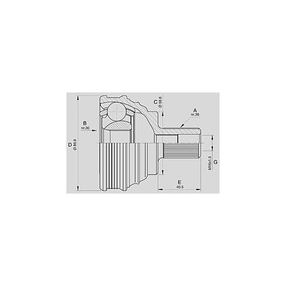 CUSCINETTO I60 E130 H31 SCHERMATO