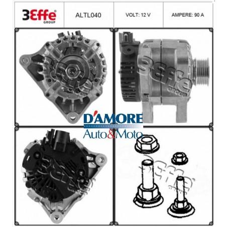 ALTERNATORE ALFA ROMEO MITO FIAT 500 DOBLO (152,223) FIORINO IDEA LANCIA MUSA 1.3 MJ 12V 120A 6PK