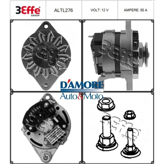 ALTERNATORE SMART CABRIO CITY COUPE FORTWO 0.8 CDI 30KW 12V 85A