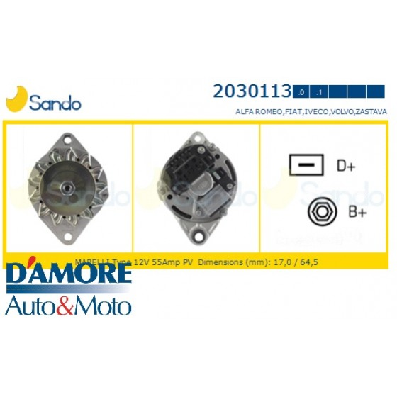 ALTERNATORE SMART CITY-COUPE (MC01) FORTWO 0.6 0.8 CDI 12V 75A
