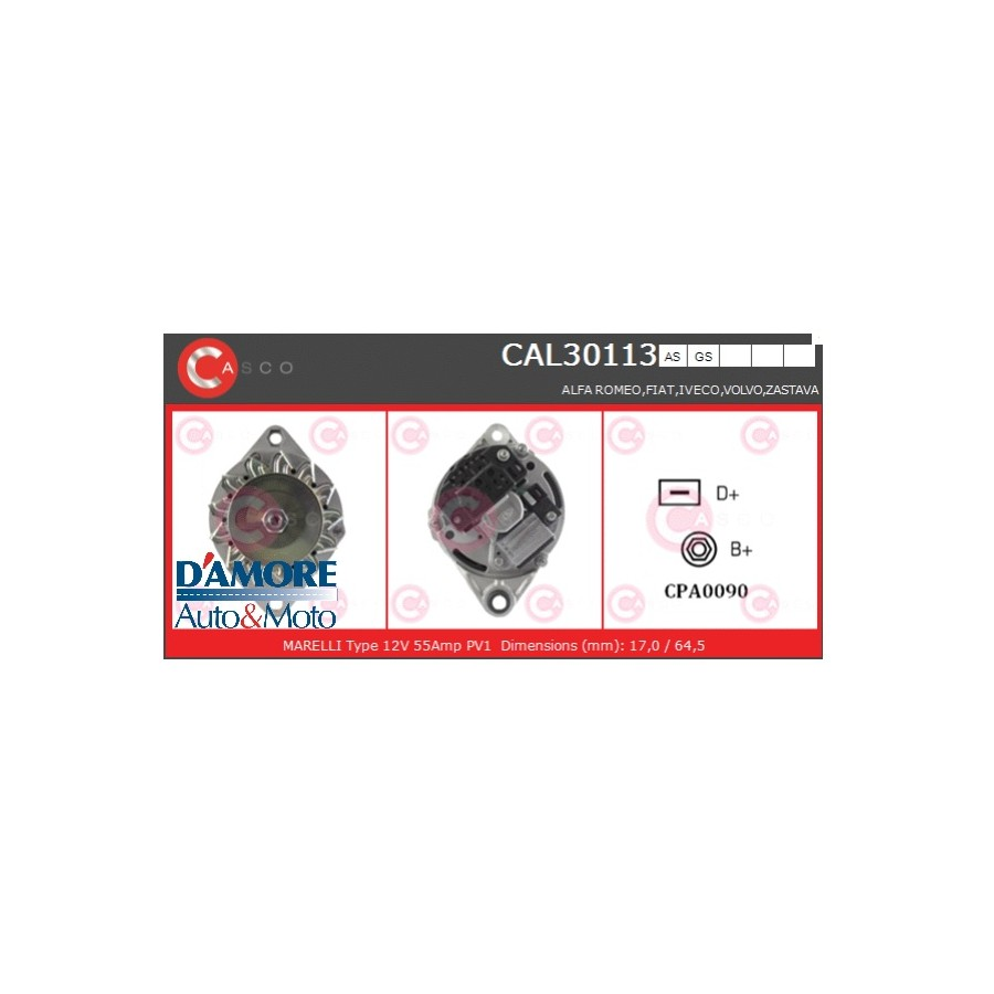 ALTERNATORE TOYOTA AVENSIS T25 COROLLA E12 2.0 D-4D 1CD-FTV 85KW 12V 100A