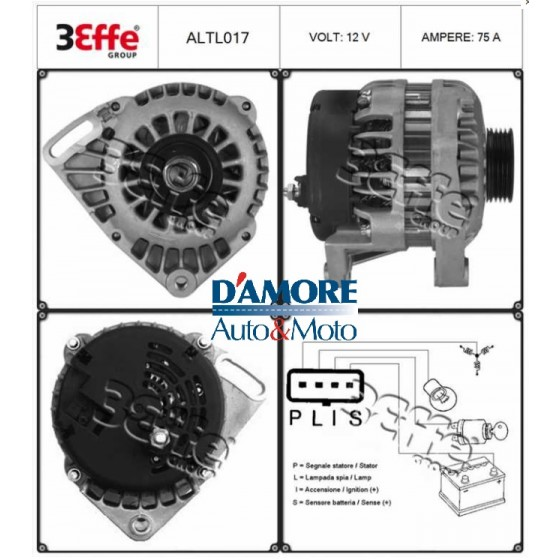 ALTERNATORE TOYOTA YARIS (CP10) 1.0 1.3 90A