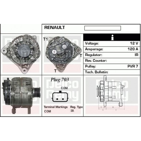 ALTERNATORE TOYOTA YARIS D-4D 66KW 12V 90A