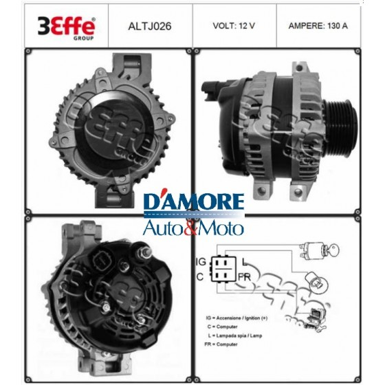 ALTERNATORE HYUNDAI H100 2.5 D 14V 65A