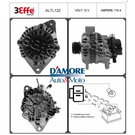 ALTERNATORE HONDA CIVIC V 12V 70A